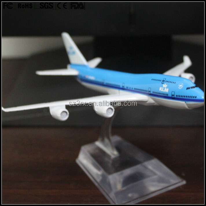 custom made 1/200 resin KLM Royal Dutch Airlines boeing 747 airplane model