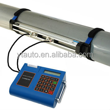 English display handheld digital fuel flow meter to measure oil fuel diesel flow rate