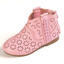 2016 summer new children s leather shoes breathable hollow cool boots casual anti skid tendon at