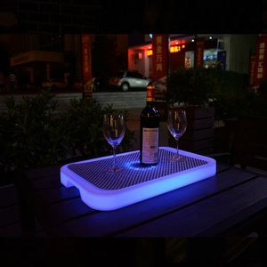 Best quality popular plastic led lighting night club led bar wine glass bottle holder with 16 colors changing