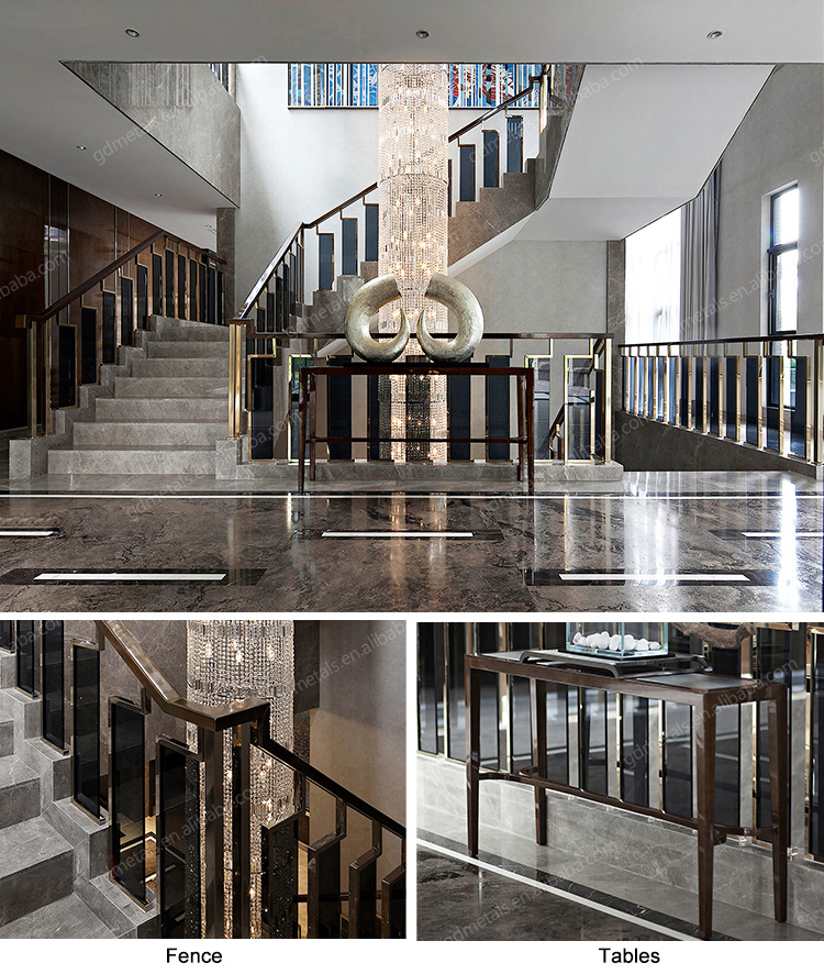 Long Warranty Glass Stainless Steel Decorative Indoor Stairs Handrail Railing Designs