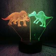 3D LED lamp mix dual kleur lava Jurassic park movie fans best cool geschenken tiener kinderen cadeau home creatieve decor maan licht