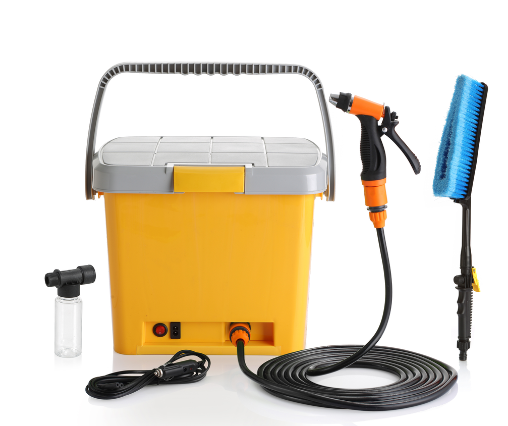 Wiederaufladbarer tragbarer Hochdruckreiniger 17L Wassertank Autowäsche, Blumen gießen, Hundedusche