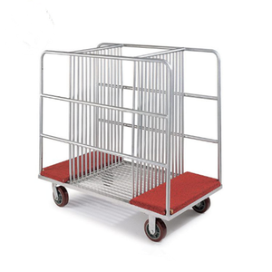 Mobile glass turntable collection carrying trolley/hand tool carts for hotel