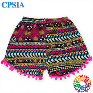 3108ead39 Hot Baby Girls Plain Sweat Gym Cargo Shorts Aztec Print Fabric Booty Shorts  Baby Cotton Bloomers