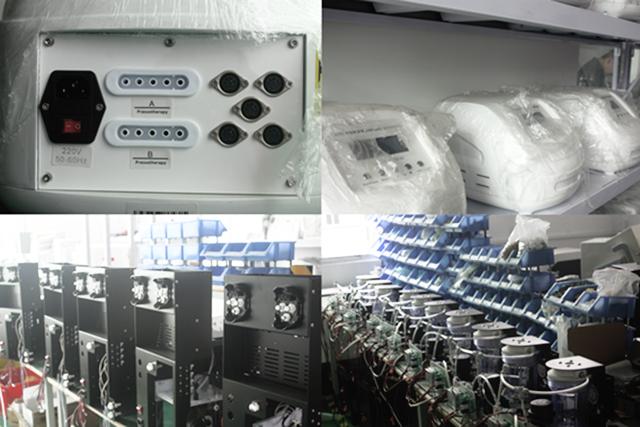 タッチ画面バージョン空気圧&遠赤外線& ems 3で1空気圧機フルボディマッサージ