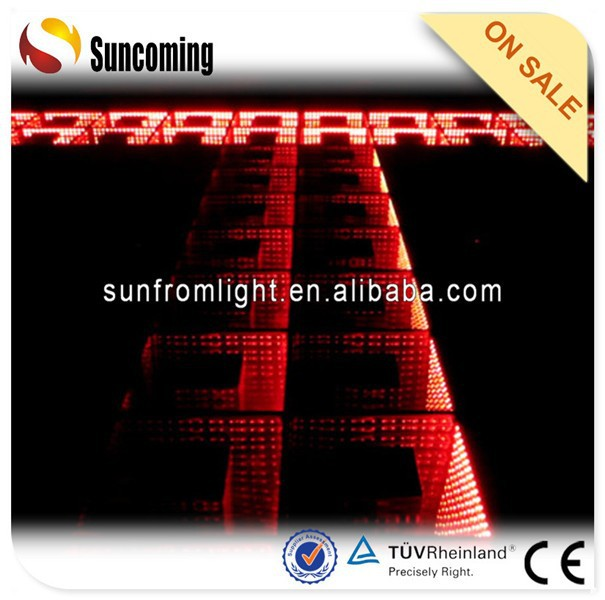 New arrival 3D time tunnel effect led disco lighting dance floor prices