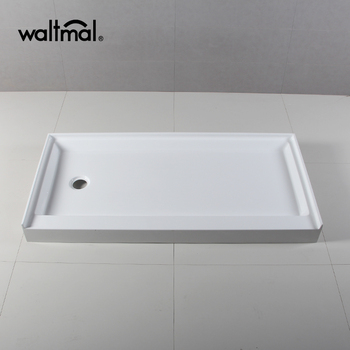 Solid Surface Shower Base.American Standard 60x30 Left Drain Single Curb Solid Surface Shower Tray Buy 60x30 Left Drain Shower Pans Single Curb Flange Pans America Standard