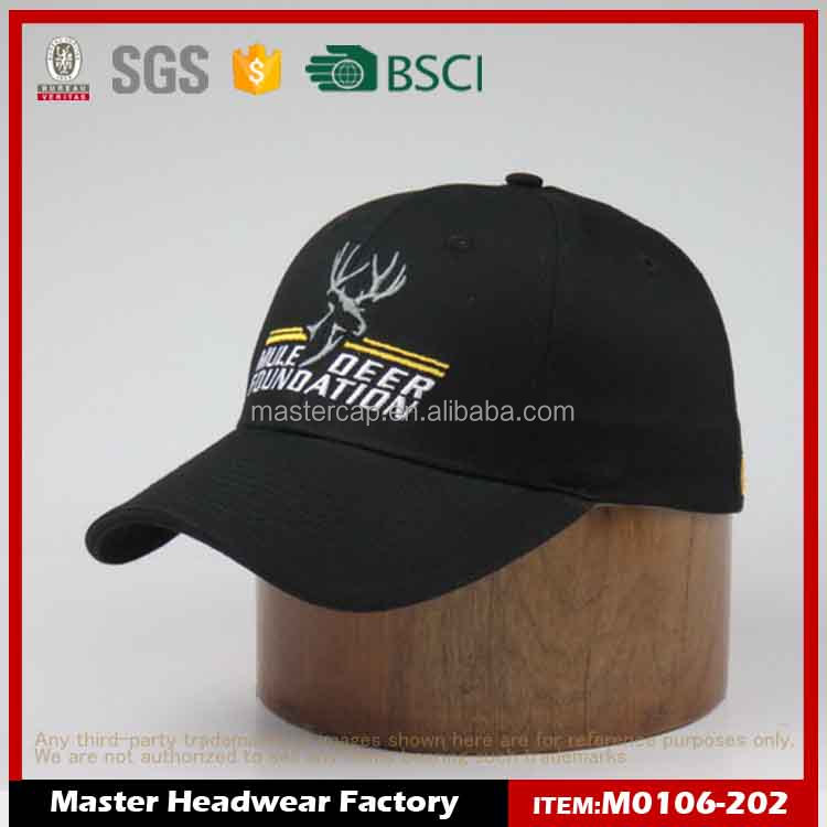 Customized Low price black cap for promotion