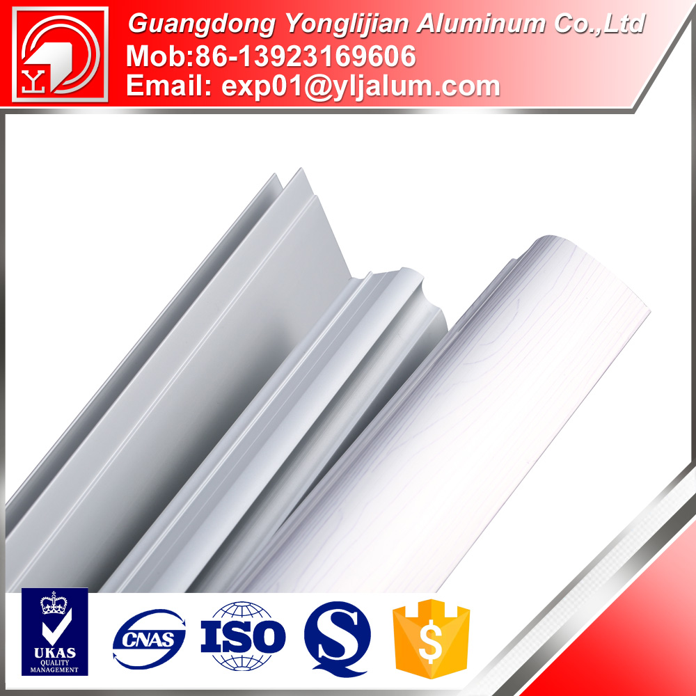 Oval plastic and aluminium extrusion profile & tubing for punched window
