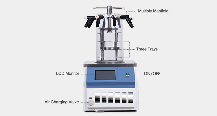 hot selling laboratory mini vacuum freeze spray dryer for flower medicine food drying