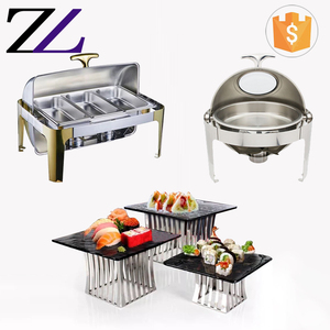 Restaurant and hotel kitchen factory price Gn 1/3 pan chaffing dishes buffet stainless steel thermal food warmer