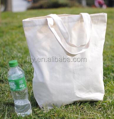 white cotton canvas tote pouch bag for shopping packing