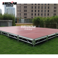 Quickly assemble portable stage and catwalk stage for event
