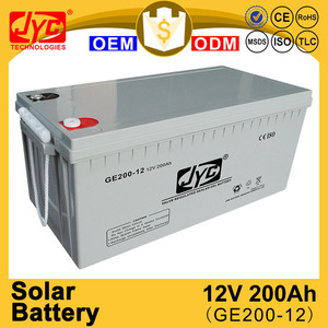 Gold supplier solar gel 12v 200ah great power battery for solar panels