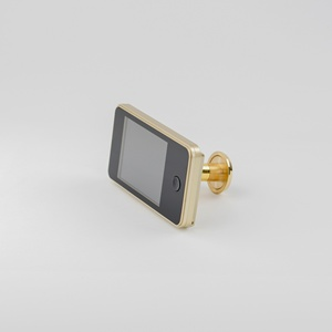 3.2 inch LCD Electronic Door Viewer Brass Peephole