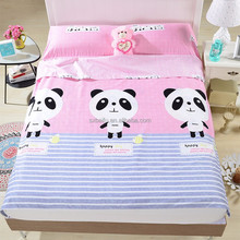wholesale comforter washed linen and printed with pananda beding set/bed sheet/bed cover