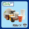 Hot drinks single pe logo printed disposable paper cup for coffee/tea/water