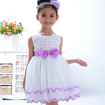 Online retail store 100 % cotton kids elegant casual dress for baby girls