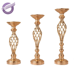 ZT02710 Wedding decorative gold metal stick candle holder