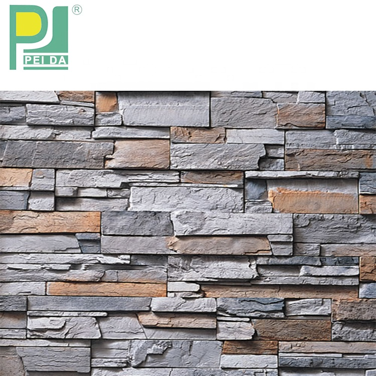 2017 Factory Direct Sale New Stones Facade Artificial Culture Wall Ledge Stone Panels