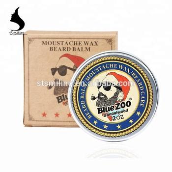 2018 New Arrival Blue Zoo Brand 60g Beard Pomade Strengthen Mustache Hair  Edge Control Nourish Beard Balm - Buy Beard Balm,Beard Wax,Hair Edge  Control