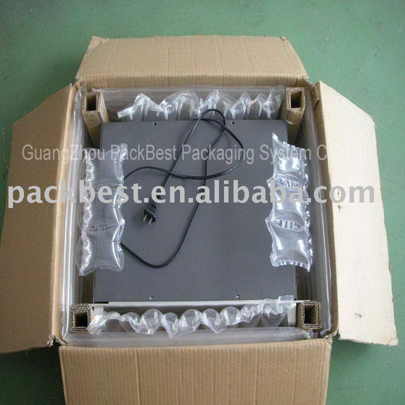 clear shock absorbant plastic air cushion bag filler packaging materials for instrument