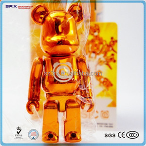 Custom Bearbrick Kidrobot figure toy/wholesale bearbrick Metallic figure toy/ICTI factory custom plastic Bearbrick toy