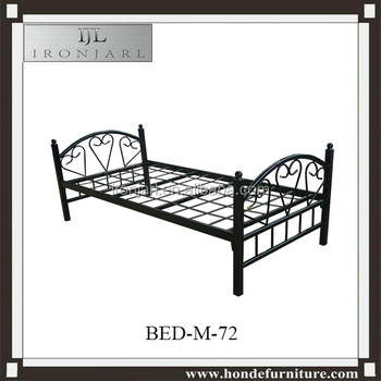 Cheap Small Cast Iron Bed Single Metal Welding Bed Frame Y