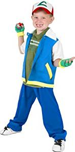 Fun Plus Child's Pokemon Ash Halloween Costume (Small 4-7) by by