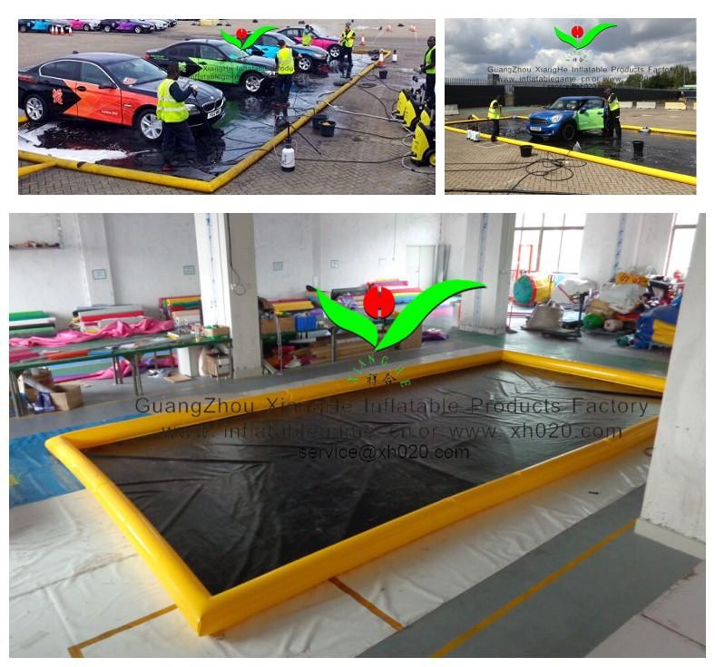 commerciale tapis de voiture facile nettoyer l 39 eau pvc b che gonflable de lavage de voiture. Black Bedroom Furniture Sets. Home Design Ideas