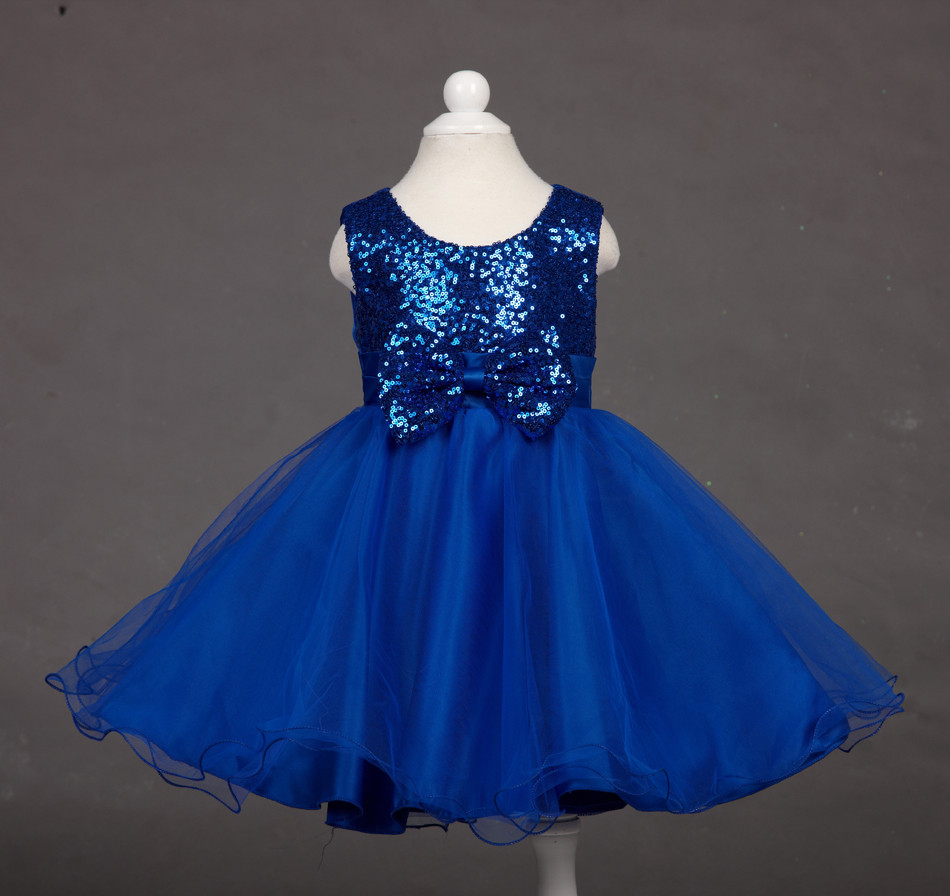 Charming Children Girls Tulle Dress Sequins Lace Wedding Party Wear ...