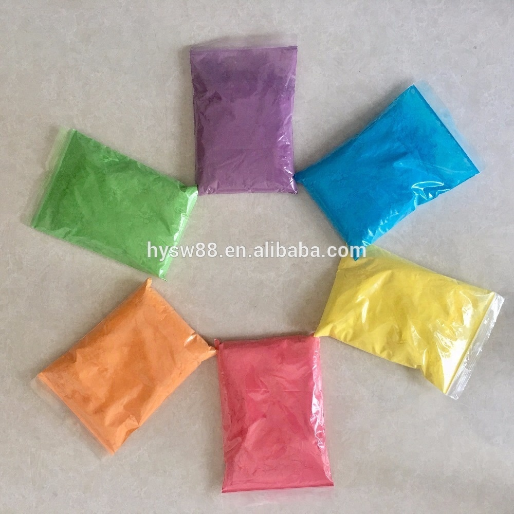 Holi color run powder factory supply events & party supply customized packing food starch colored powder safety certificates