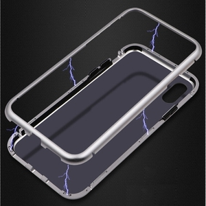 2018 Trending New Products HONTECH Ultra Slim Magnetic Adsorption Tempered Glass Case with Built-in Magnet Flip Case for iPhoneX