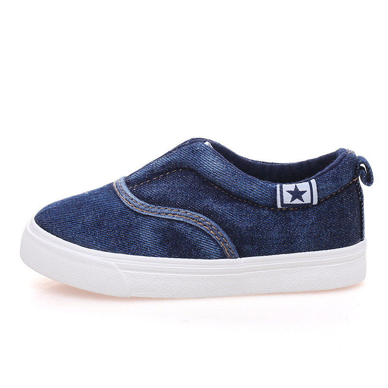 2016 spring children shoes girls shoes breathable denim slip on loafers comfortable canvas sneakers kids shoes boys casual shoes