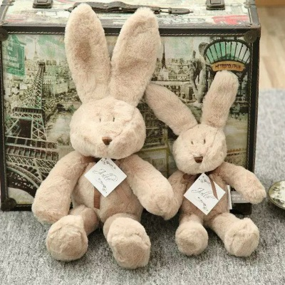 Baby Comforter long ear <strong>rabbit</strong> 17cm cute bunny Bedtime Plush Toy brown <strong>rabbit</strong>