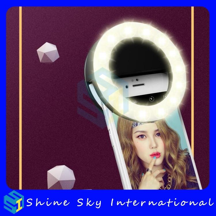 USB charging private label selfie light,wireless selfie stick,ring light