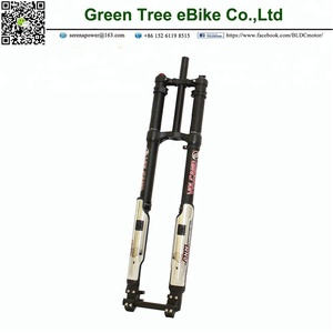 DNM fork Downhill Suspension Custom Bike Forks Black Dual - Crown Inverted 8 Inch