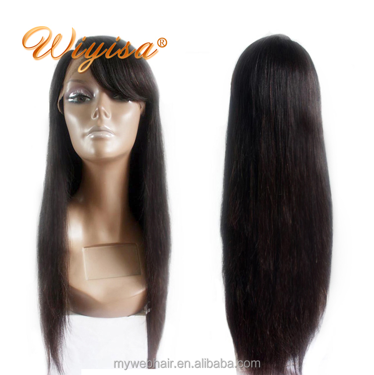 Hair Factory Hot Selling Silky Straight Thin Hair Lace Wigs 130% 22 Inch Virgin Brazilian Human Hair Full Lace Wig фото
