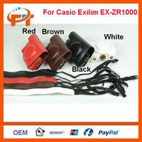 Leather Camera Case Bag for Casio EXILIM EX-ZR1000 Digital Compact Camera