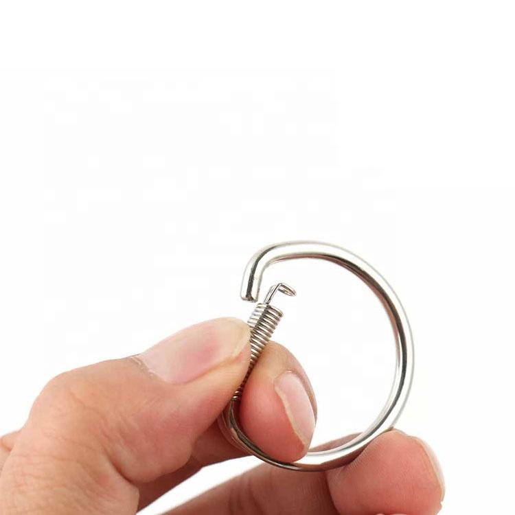 Pabrik Harga Stainless Steel D Shaped Key Ring Gantungan Kunci