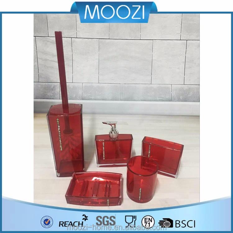 Grossiste accessoire salle de bain rouge-Acheter les meilleurs ...