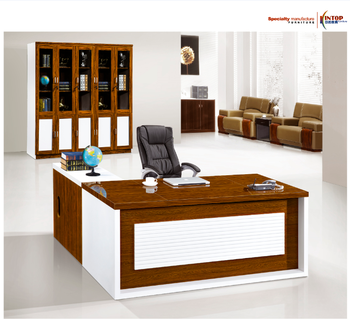 Wooden Office Desk SetCurved Office DeskOffice Table With Side