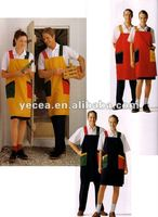 Hot Selled New Style Housekeeping Staff Apron Uniform