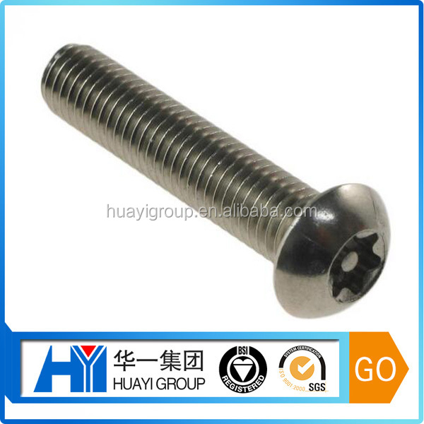 custom stainless steel round torx head bolt,t40 torx bolt manufacturer