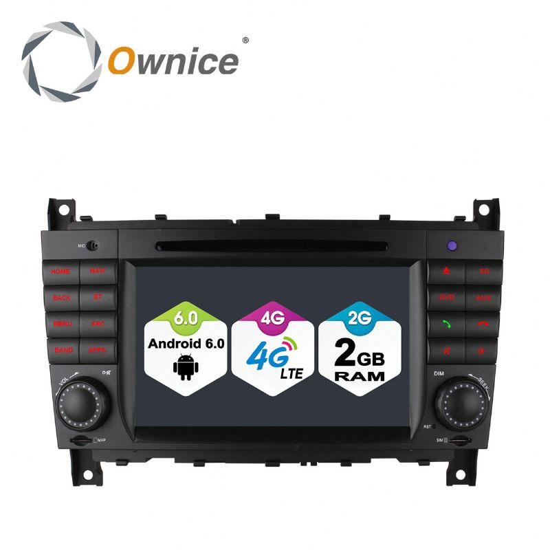 Ownice C500 2G Ram Car gps navigation for Mercedes Benz W203 Built in DVD 4G LTE support rear camera TPMS DAB DVR
