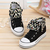 Popular Rubber Vulcanized Canvas Shoes Classic Casual Shoes Girls' Leisure Vulcanized Shoes With Floral Fabric