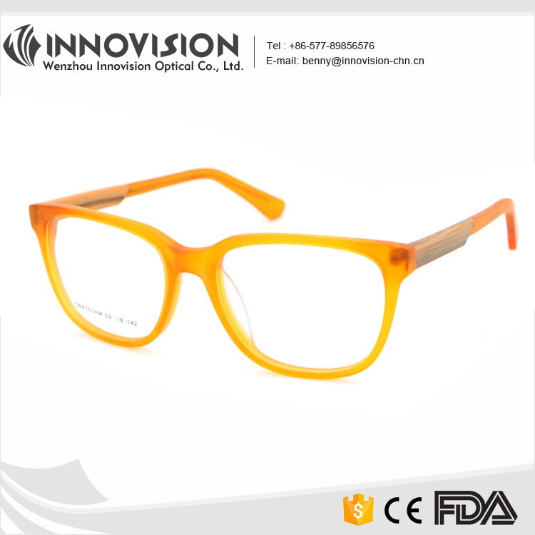 New Trend Acetate Pure Color Optical Gold Frame