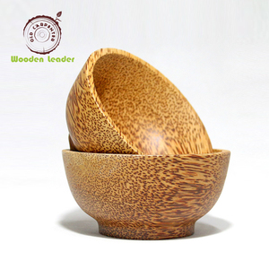 Customized Blank Cococnut Round Wood Shell Bowl
