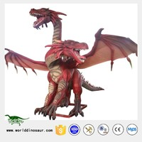 Animatronic Red Dragon for Dragon Decoration Chinese New Year